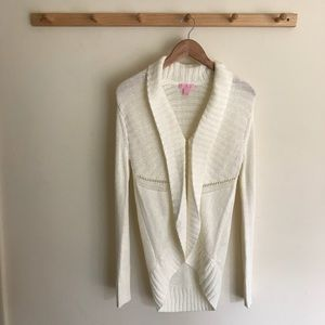 Lilly Pulitzer Open Front Knitted Cardigan Small